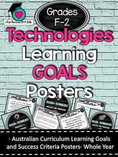 Technology Australian Curriculum Learning Goals Other grades available in store. Education And Literacy, Primary Education, Elementary Schools, Learning Goals, Learning Resources, Teacher Resources, Visible Learning, Success Criteria, Australian Curriculum