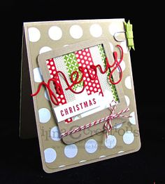 #papercraft #card - SSU Expressions thinlits, A Banner Christmas stamp set. Season of Style dsp stack, Old Olive Simply Styled embellishments, Season of Style Designer washi tape.