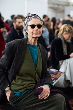 The Sartorialist: On the Scene…Front Row at Etro, Milan The Sartorialist, Fashion Week, Fashion Outfits, Womens Fashion, Mode Style, Style Me, Stylish Older Women, Mature Fashion, Advanced Style