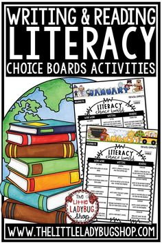 You will love these Literacy Center Choice Boards that are perfect for Second Grade, Third Grade and Fourth Grade! Included are 12 Monthly literacy choice boards focusing on different activities for your students to do monthly/ weekly in word work, writing, and reading. Perfect for 3rd grade, 4th grade, and home school classroom. #literacycenters #literacycenters3rdgrade #literacycenters4thgrade