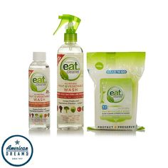 American Dreams Eat Cleaner Fruit + Vegetable Wash and Wipes Kit