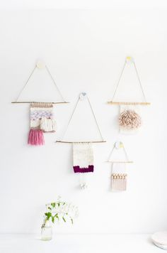 Painted Clay Wall Hooks // Fall For DIY // wall hangings