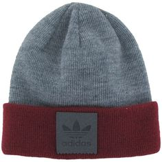 adidas Shore Beanie ($20) ❤ liked on Polyvore featuring accessories, hats, adidas, adidas hats, adidas beanie, logo beanie hats and logo hats