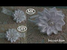 DIY/How to/Headband/Kanzashi flower/Flor de cinta/MK/канзаши: bricoart.kam - YouTube