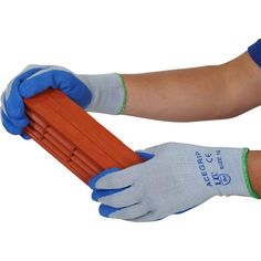 Ace Blue Grip Gloves