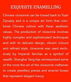 #ShanghaiTang #KnowHow #Enamel #Bangle #Jewel #Colors