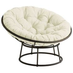 """Our iconic Papasan Chair is hand-woven from synthetic rattan for incredible resilience and durability, then finished with a rich, brown stain and high-gloss lacquer. All of which is just another way of saying, """"Ahhhhhhhh."""" Papasan chair bowl and base each sold separately.<span id=""""mini-upsell"""" data-launch=""""true"""" data-required=""""false"""" data-product=""""Cushions"""" data-masters=""""PV210-2:1""""></span> #PapasanChair"""