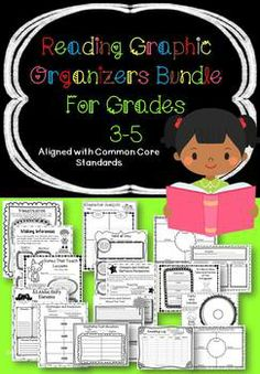 """Common Core Reading Graphic Organizer Bundle for Grades 3-5. Look what buyers have said, """"These are so well done! I have already used so many with my students!! LOVE THEM!""""  $"""