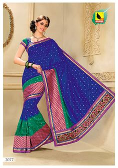 Raw Silk Sari in Violet, Green Pink color  MRP:Rs.3,269/-  Order Here: http://www.artncraftemporio.com/raw-silk-sari-in-violet-green-pink-color.html Show the elegance in you with this alluring designer saree in Violet, Green and Pink color crafted on raw silk material.