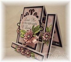 Heartfelt Creations | Pink Funky Fold Daisy Card