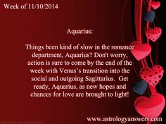 Here's an extra little LOVE-scope for the week. Just a little gift from Astrology Answers to you <3