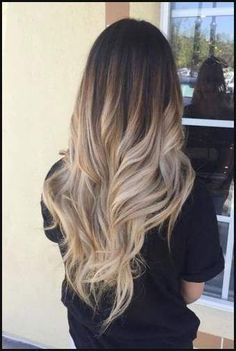 Ombre Hair Color Ideas For Blonde Brown Black Balayage Hair, Ombre Hair Color, Hair Color Balayage, Hair Highlights, Caramel Highlights, Medium Long Hair, Long Curly Hair, Curly Hair Styles, Baliage Hair, Blonde Hair