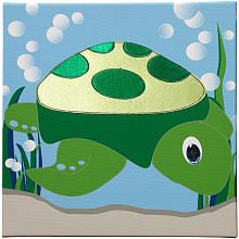 Studio Arts Kids Under the Sea Collection Embellished Wall Hanging - Turtle