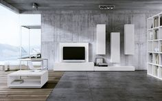 Contemporary TV wall unit / in wood / lacquered wood LA SALA CARRE furniture