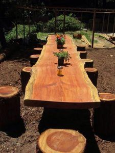 Find useful the following 15 DIY garden decoration with fallen tree or logs that you will love to have!