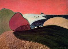 1940, Milton Avery, (American artist, 1885-1965), Gaspe Pink Sky / It's About Time: The Paintings of American, Milton Avery 1888-1965