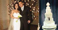 Bolo de casamento: veja 17 ideias criativas dos famosos!  Wanessa e Marcus Buaiz