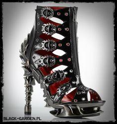 Hades Crimson high heels black-garden.pl # black garden # shoes # rock # goth # gothic