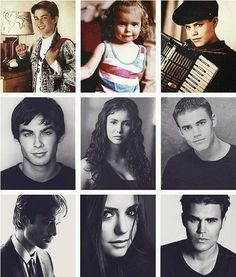 - Ian Somerhalder Nina Dobrev and Paul Wesley , through the years.