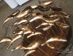 garden fish,jesse meyer,sculpture studio,fish out of water,bronze fish sculpture,steel fish sculpture,stainless fish sculpture,tasteful lawn art,Milwaukee wi,