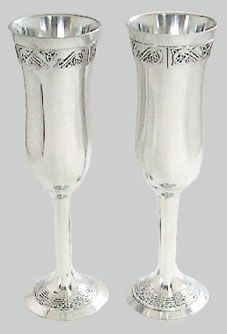 Champagne Flutes Celtic