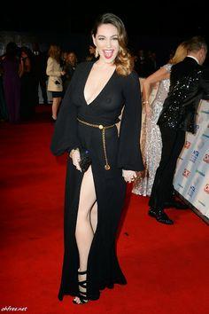 Kelly Brook See Through at the 2014 National Television Awards