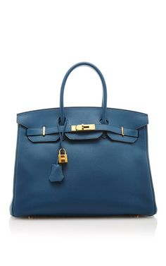 Hermes 35Cm Blue De Galice Togo Leather Birkin by Heritage Auctions Special Collection for Preorder on Moda Operandi