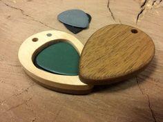 Guitar Pick Holder,Magnet, Handmade,,Wooden,Guitarist gift,Natural,,Music,by MagicAtticArt