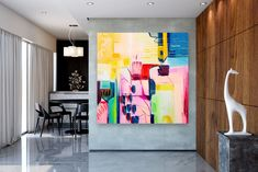 Large Abstract Painting,Large Abstract Painting on Canvas,square painting,acrylic abstract,oil painting canvas FY0075