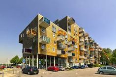 A 100 units apartment designed by MVRDV in Amsterdam, which makes the house energetic. MVRDV(http://www.mvrdv.nl/projects/wozoco/ )