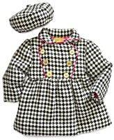 Penelope Mack Coat, Baby Girls Jacquard Houndstooth Hat and Jacket