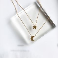 long star moon necklaces pendant fashion Silver Gold Color jewelry statement necklace for Women Star And Moon Necklace, Rhinestone Necklace, Pearl Jewelry, Moon Jewelry, Jewelery, Fashion Necklace, Wedding Jewelry, Chokers, Pendant Necklace