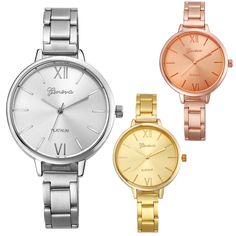 Top Quality Fashion Gold Roman Numerals Women Stainless Steel Analog Quartz Watch Luxury Lady Business Wristwatch S25-in Fashion Watches from Watches on Aliexpress.com | Alibaba Group