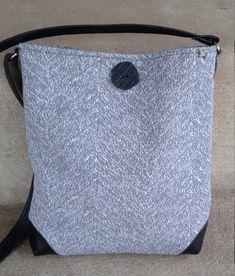 Gray Classic Tote, 11w x 11t x 2d, adu Shoulder Bag, Bag, Purse, Pocketbook, Tote, Essential Bag, Everyday Bag, Crssbody Bag, Shoulder Bag, by PandenteDesigns on Etsy