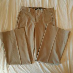 Gapstretch Trouser dress pants Worn once, Tan, 62% polyester/ 33% rayon/5% spandex GAP Pants Trousers