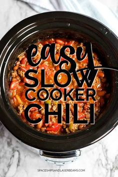 Crockpot Chili Recipe - Spaceships and Laser Beams Slow Cooker Chili, Slow Cooker Recipes, Crockpot Recipes, Crock Pot Chili, Easy Crockpot Chilli, Slow Cooker Minced Beef, Best Chili Recipe, Chilli Recipes, Gourmet Recipes