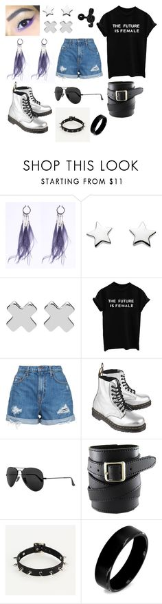 """Untitled #54"" by chris-is-a-lesbian ❤ liked on Polyvore featuring Witchery, Nobody Denim, Dr. Martens, Ray-Ban and West Coast Jewelry"