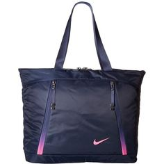Nike Auralux Tote Obsidian Hyper Pink Handbags 45 Liked On Polyvore Featuring Bags Bag Strap Purse