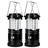 ⚽ #4: LE 2 Pack Outdoor LED Lantern Flashlights, 30 LEDs, Battery Powered, Water Resistant, Home Garden Portable Camping… #ad #Fitness