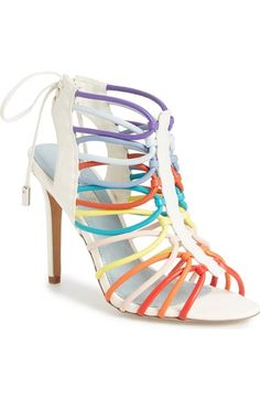Topshop 'Rainbow' Tubular Cage Sandal (Women) available at #Nordstrom