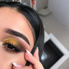 Image result for yellow eyeshadow