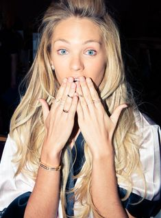 Backstage at the 2014 Victoria's Secret Show http://www.thecoveteur.com/victorias-secret-show-2014-backstage/