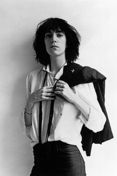 Patti Smith by Robert Mapplethorpe, 1975.