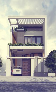 29 Best Modern Dream House Exterior Designs You Will Amazed Layouts Casa, House Layouts, House Front Design, Modern House Design, Narrow House Designs, Home Design, Design Exterior, Build Your Own House, Dream House Exterior