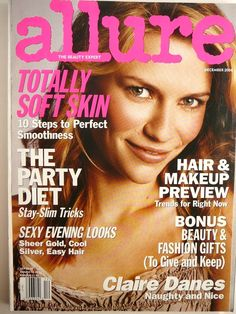 CLAIRE DANES cover 2004 NICOLE KIDMAN Chanel Ad! Allure Mag Beauty NEW Vtg