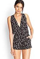 Spotted Floral Surplice Romper