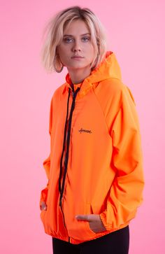 Womens Windbreaker, Looks Style, Orange Clothes, Rain Jacket, T Shirt, Jackets, Outfits, Sport, Kids
