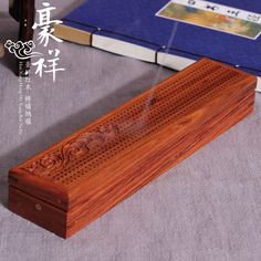 African rosewood hollow lying clouds incense censer incense box line mahogany wood box with fragrant incense supplies