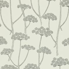 anise wallpaper in charcoal/ivory from sanderson. colour for living collection.
