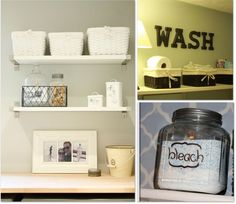 lots of ideas for making the laundry room more cheery